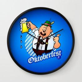 Oktoberfest - man in lederhosen Wall Clock