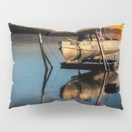 Aluminum Fishing Boat at Sunrise on Stony Lake Pillow Sham