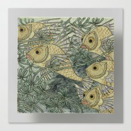 Tile, belonging to tableau painted with fish in whose Bert Nienhuis I, c. 1896 - c. 1901 Canvas Print