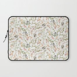 Dainty Intricate Pastel Floral Pattern Laptop Sleeve