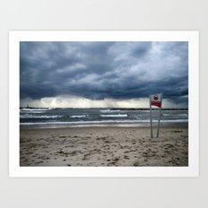 Tel Aviv Beach Jan 2016 Art Print