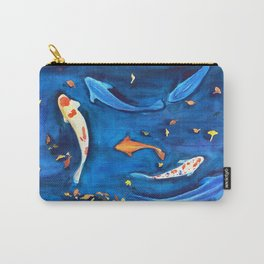 Koi fish in the water watercolor Carry-All Pouch