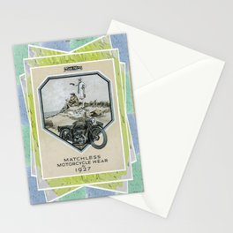 Vintage Retro Motorcycling. Stationery Cards