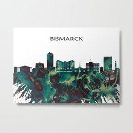 Bismarck Skyline Metal Print