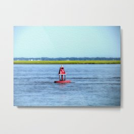 The Little Red Buoy Metal Print