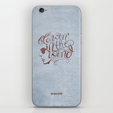 BOB DYLAN, BLOWIN' IN THE WIND iPhone & iPod Skin