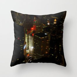 Wrigley Building in Bright Red and Green (Chicago Christmas/Holiday Collection) Throw Pillow