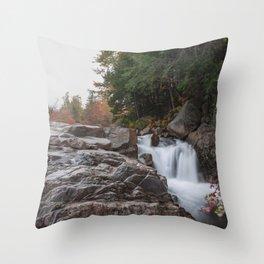 Rocky Gorge Waterfall in Autumn Throw Pillow