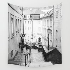Streets Of Prague Wall Tapestry