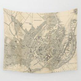 Vintage Map of Copenhagen Denmark (1886) Wall Tapestry
