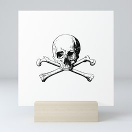 Dangerous Skull and Crossbones Mini Art Print