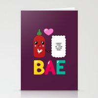 sriracha Stationery Cards featuring BAE by Ronnieboyjr