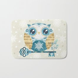 Winter Wonderland Owl Bath Mat
