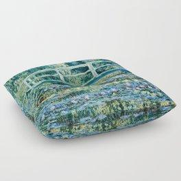 Claude Monet - Water Lilies And Japanese Bridge Floor Pillow