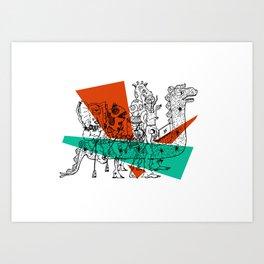 Adjacent Fourmula Art Print