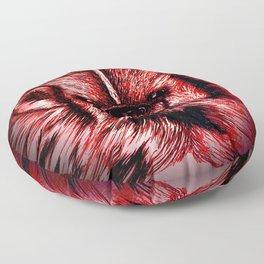 Badger Bad Red Floor Pillow
