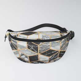 Marble Cubes - Black and White Fanny Pack