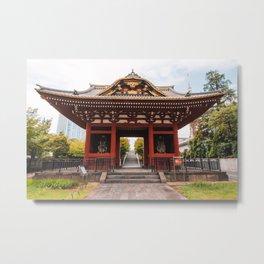 So-mon Gate of Daitokuin Mausoleum - Tokyo, Japan Metal Print