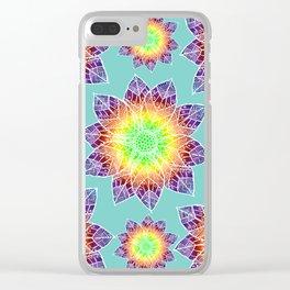 Boho Mandala Flowers Clear iPhone Case