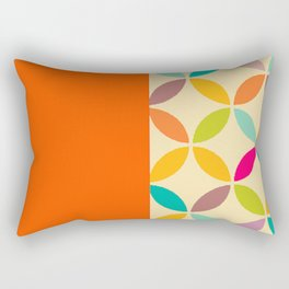retro pop 1 orange funky 70s Rectangular Pillow
