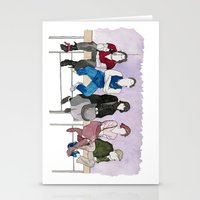 breakfast club Stationery Cards featuring The Breakfast Club by DJayK