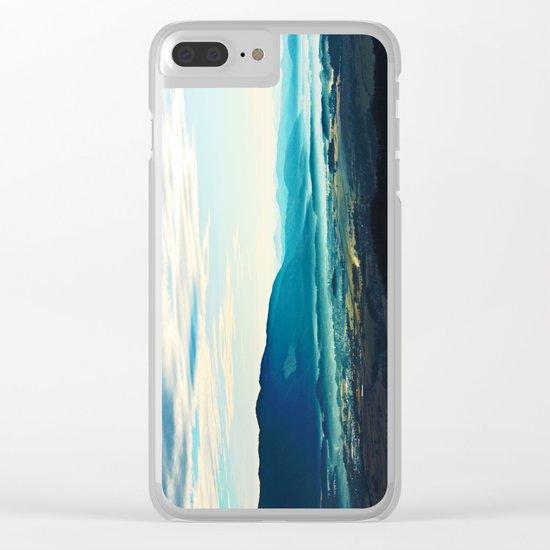Blue Vista Clear iPhone Case