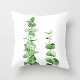 Eucalyptus leaves. Throw Pillow