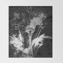 Seattle Space Needle Celebration Throw Blanket