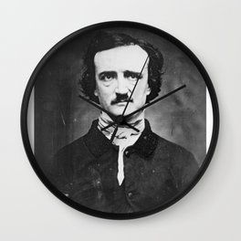 Edgar Allan Poe Wall Clock