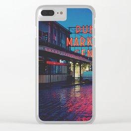 Seattle Public Market Clear iPhone Case