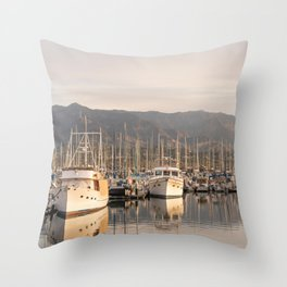 Santa Barbara Marina, California Throw Pillow