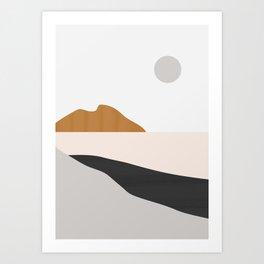 Minimal Art Landscape 3 Art Print