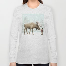 Winter Moose Long Sleeve T-shirt
