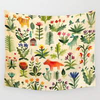 garden Wall Tapestries featuring Garden by AITCH