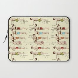 Old Fashioned Swimming Lessons Laptop Sleeve