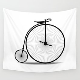 Penny Farthing Silhouette Wall Tapestry