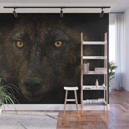 Black Wolf Wall Mural