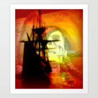 pirate ship Art Prints featuring Pirate Ship by elkart51