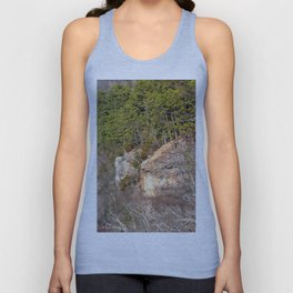 Climbing Up Sparrowhawk Mountain above the Illinois River, No. 3 of 8 Unisex Tank Top