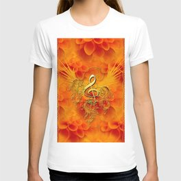 Clef with flowers T-shirt