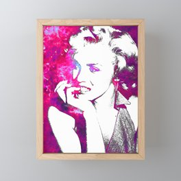 Pink Marilyn Framed Mini Art Print