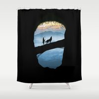 hunter Shower Curtains featuring Hunter by Tony Vazquez
