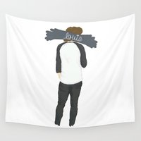 louis tomlinson Wall Tapestries featuring Louis' Best Side by clevernessofyou