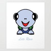 Let's Race Baby Boy Art Print