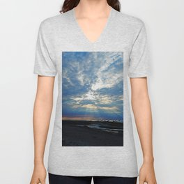 Parting of the Clouds Unisex V-Neck