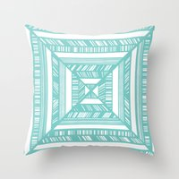 frames Throw Pillows featuring Frames by • Amanda Khoo •