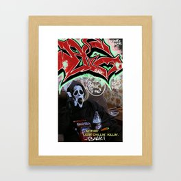 Scream Graffit by Ba6ix  Framed Art Print