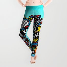 I love music, any kind of music Leggings