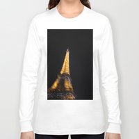eiffel tower Long Sleeve T-shirts featuring Eiffel Tower by Emily Werboff