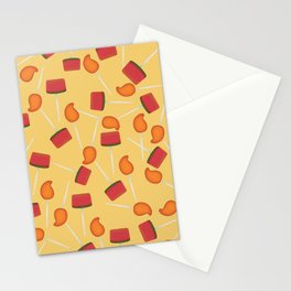 Yellow background Mexican paleta candy pattern Stationery Cards